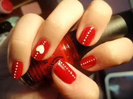 valentines day nails classy line